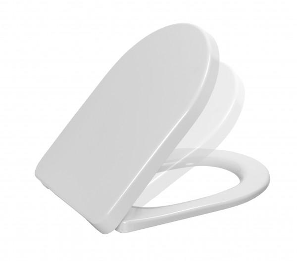 """WC - Sitz """" DARIO PLUS """" mit Deckel weiß"""
