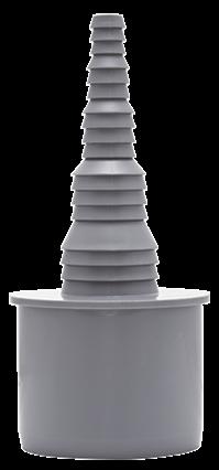 Schlauchnippel DN 50 für Schauchdurchm. 8-25 mm,