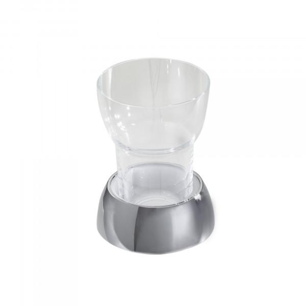 DIVA Glashalter mit Kunststoffbecher, Standmodell verchromt