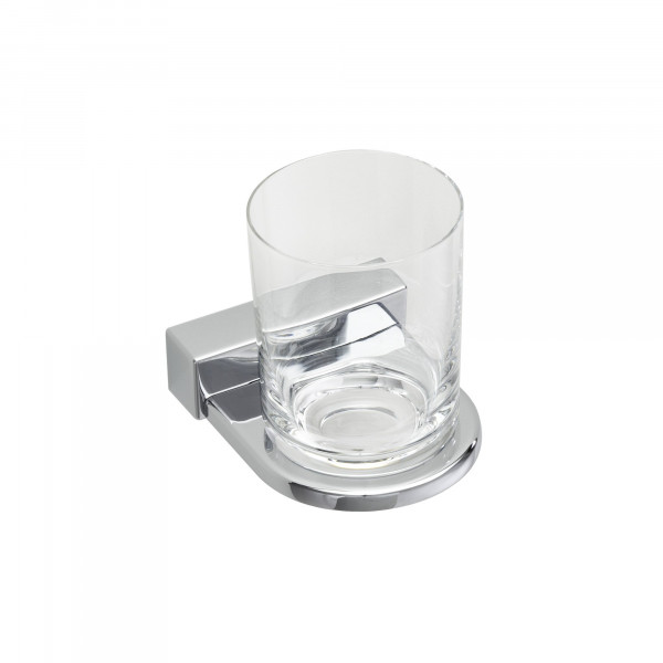 IRIS Glashalter mit Kunststoffbecher, verchromt