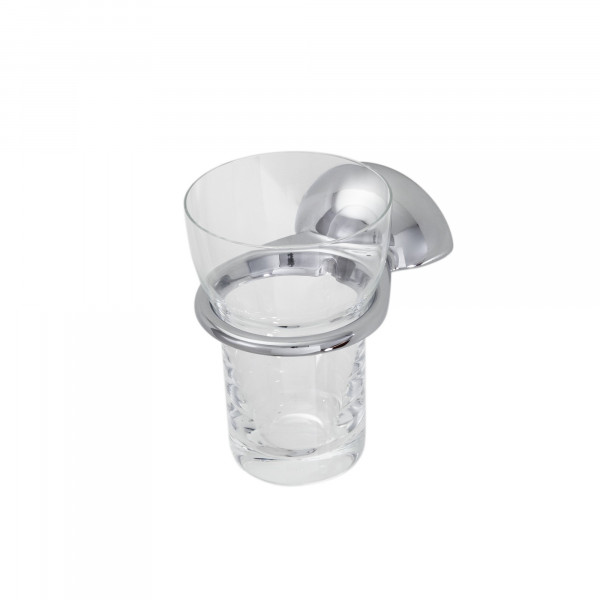 DIVA Glashalter mit Kunststoffbecher,verchromt
