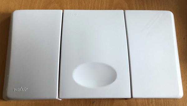 Valsir Betätigungsplatte Typ MEDUSA weiß 804001